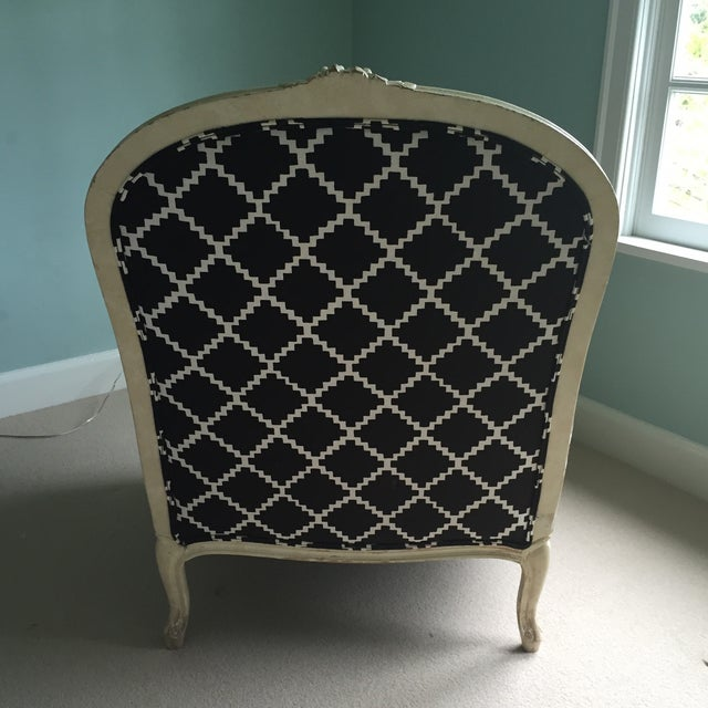 Vintage Bergere Chair in Lulu DK's Chant Fabric - Image 4 of 10