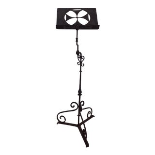 Antique Iron Lectern With Maltese Cross