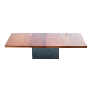 Rosewood and Chrome Milo Baughman Dining Table