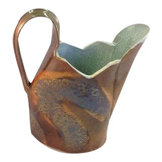 Vintage Handmade Pottery Watering Pitcher