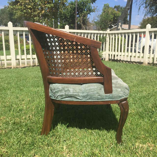 Mid-Century Cane Barrel Chair - Image 7 of 11