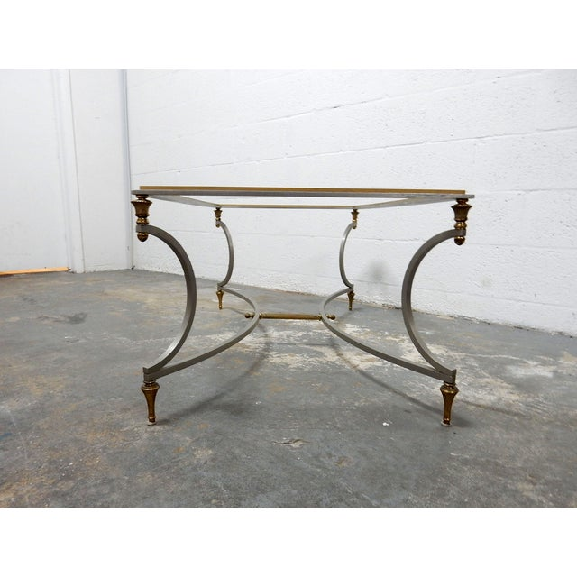 Vintage French Decorative Coffee Table With Brass - Image 10 of 11