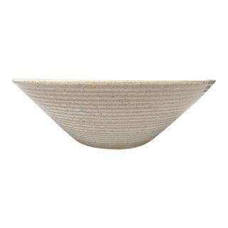 Zanesville Stoneage Modern Homespun Rustic White Ceramic Bowl Planter