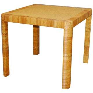 Bielecky Bamboo & Rattan Basket Weave Dining Table