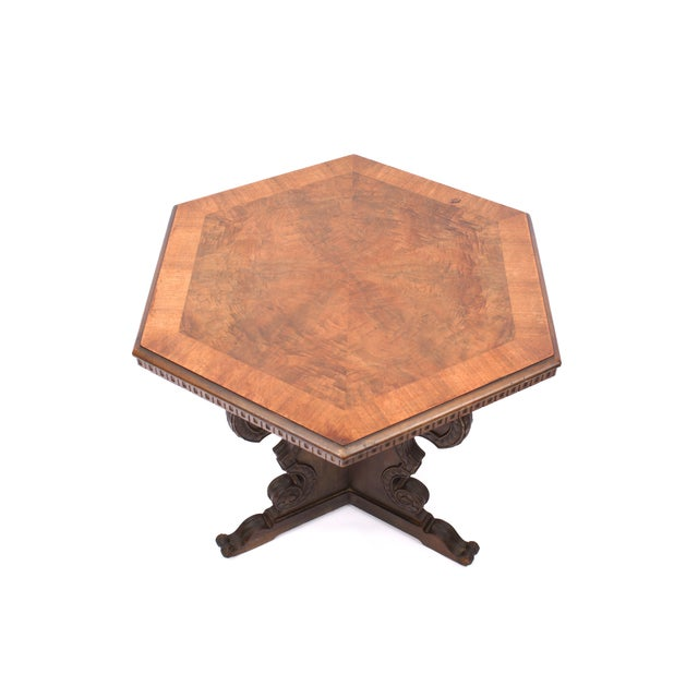 Image of Antique Hexagon Side Table