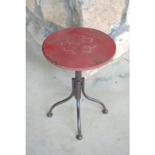 Image of French Bistro Bar Stool with Lotus Detail