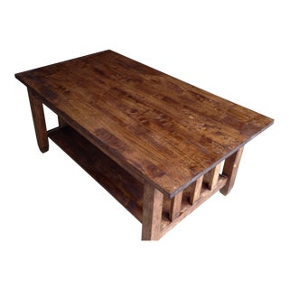 Primitive Rustic Wooden Coffee Table