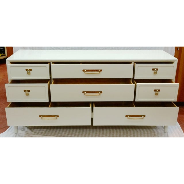 Image of Gray Lacquered Dresser by Drexel