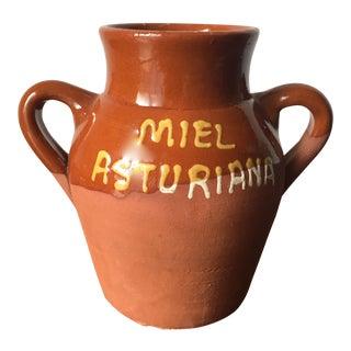 Vintage French Terra Cotta Honey Jar