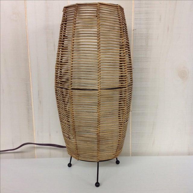 Image of Cool Asian Modern Rattan Lamp