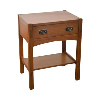Stickley Mission Oak Style 1 Drawer Nightstand