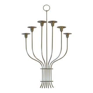 Mid-Century Chrome Wall Mounted Candelabra