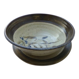 Studio Art Pottery Centerpiece Bowl & Platter