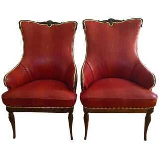 Grosfeld House Chairs in Shagreen - a Pair