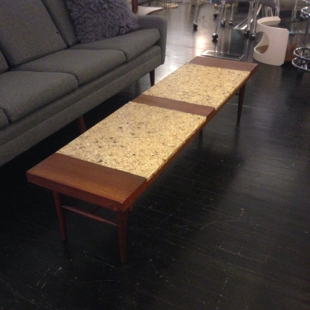 Image of Mother of Pearl and Walnut Coffee Table