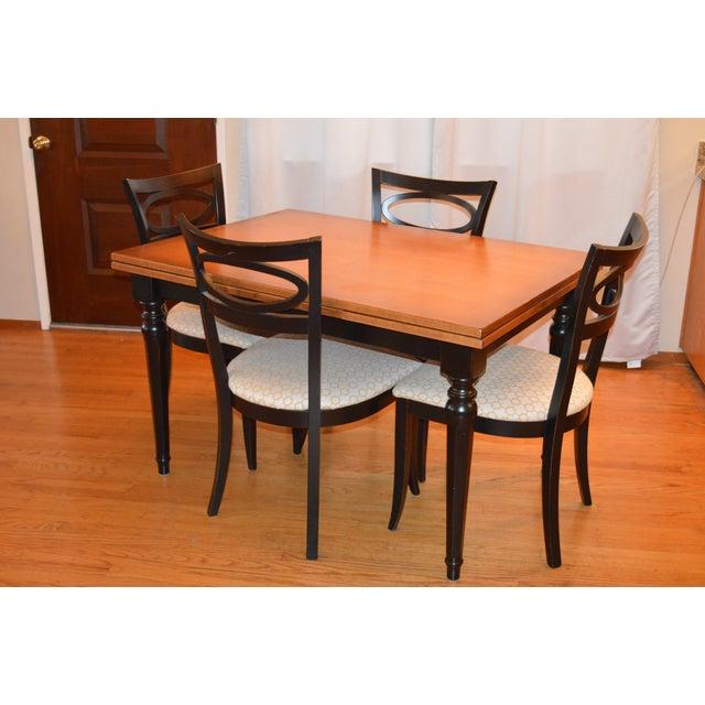 Modern arhaus furniture walnut dining set chairish for Arhaus furniture