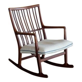 Hans Wegner Ml-33 Rocking Chair in Teak for Mikael Laursen