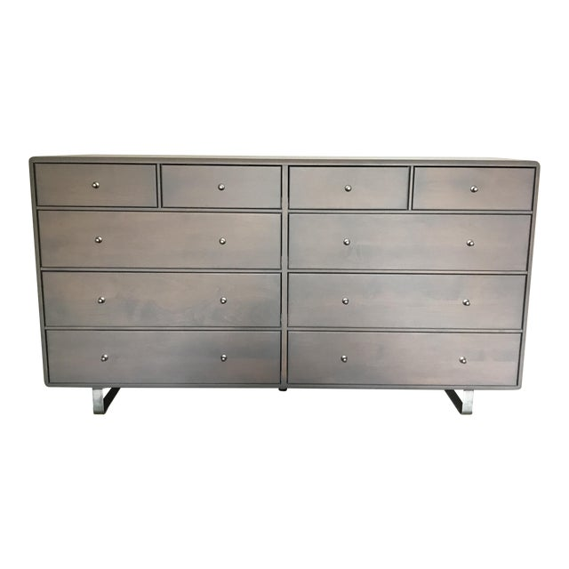 Room & Board Gray 10-Drawer Dresser - Image 1 of 7