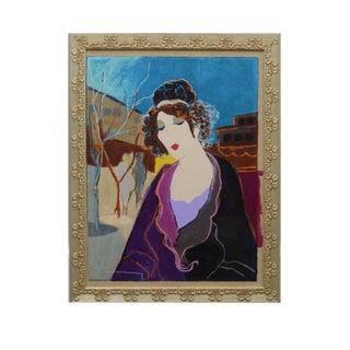 """Babette"" Signed Acrylic Painting"