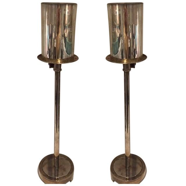 Baker Tyler Hurricane Buffet Lamps - A Pair - Image 1 of 3