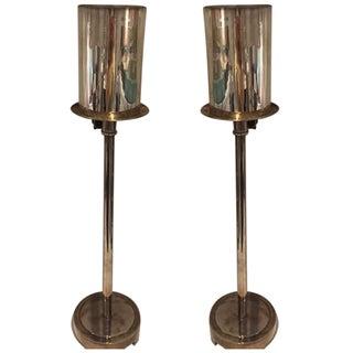Baker Tyler Hurricane Buffet Lamps - A Pair