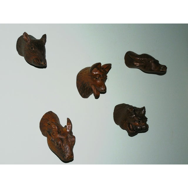 Carved Wood Chinese Zodiac Mounts - Image 2 of 9