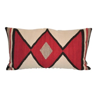 Early Geometric Navajo Weaving Bolster Pillow
