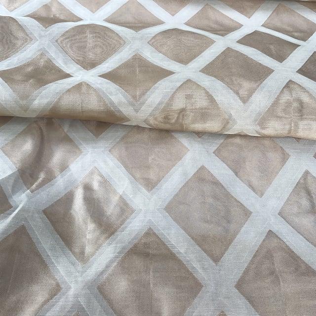 Jack Lenor Larsen Modern Metallic Fabric - Image 5 of 6