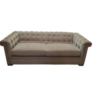 Velvet Cream Glacier Sofa