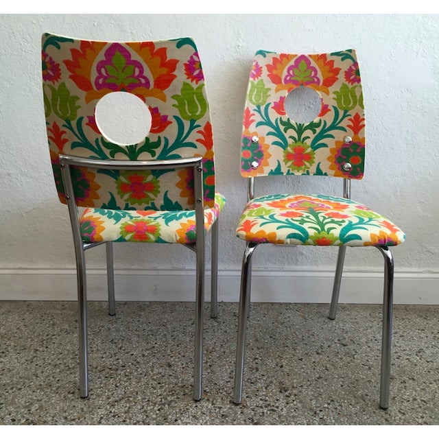 Floral Dining Chairs - Image 3 of 4