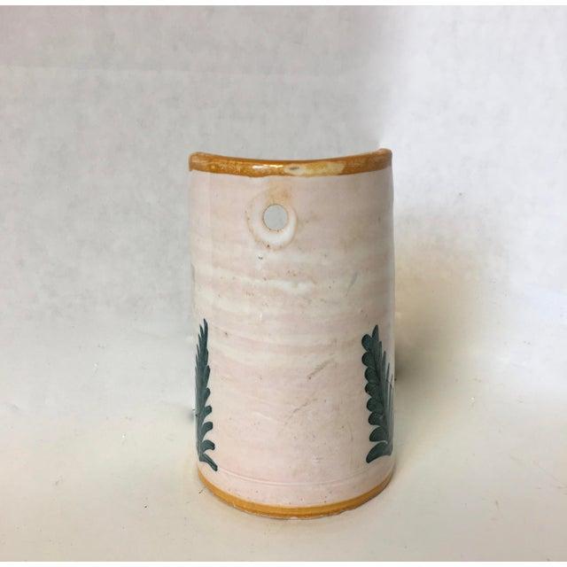 Image of Vintage Blue & Gold Art Pottery Candle Holder