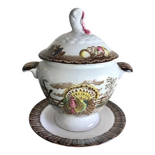Transferware Turkey Mini Tureen