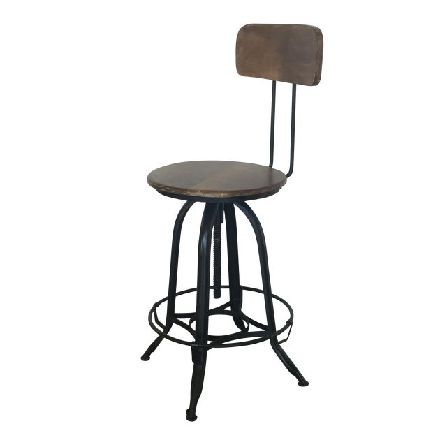 HD Buttercup Vintage Inspired Bar Or Accent Chair Chairish