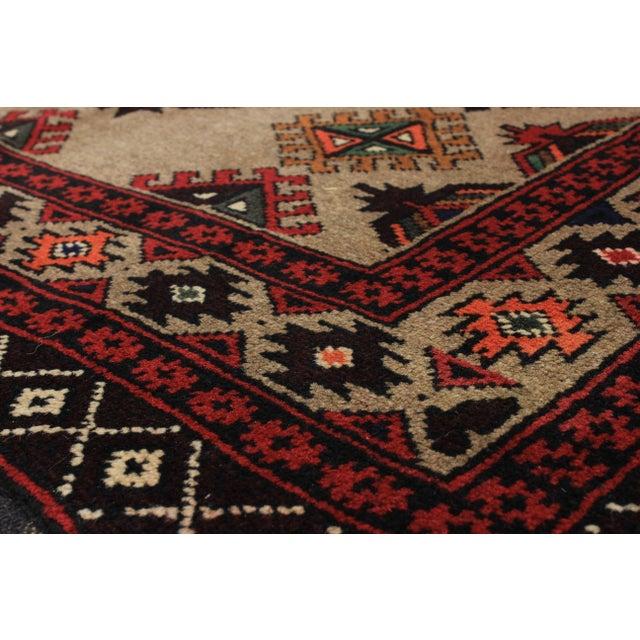 """Vintage Rizbaft Afghan Tribal Rug - 3'5"""" X 6'3"""""""
