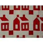Image of Schoolhouse Quilt with Crisp Red Houses