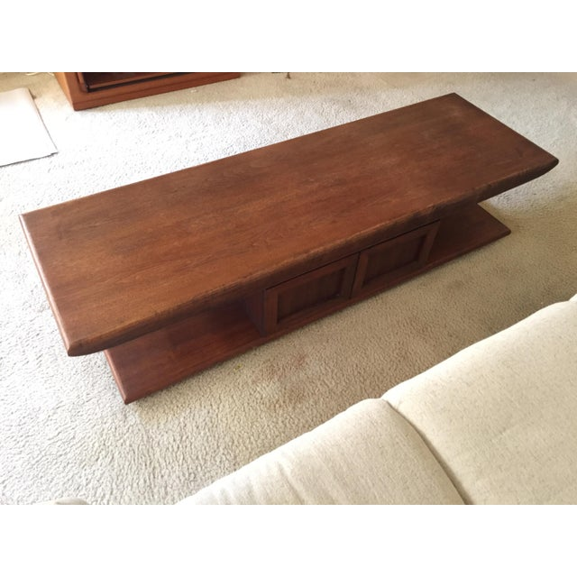 mid century narrow coffee table chairish. Black Bedroom Furniture Sets. Home Design Ideas