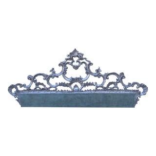 Carved Italian Silver Gilt Headboard