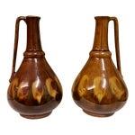 Image of Mid-Century Poland Ceramic Decanter - A Pair