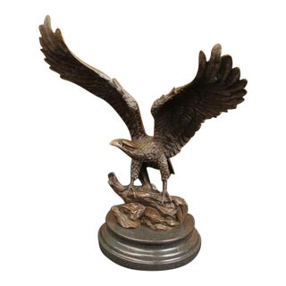 Bronze American Bald Eagle Statue