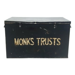 Antique Painted Metal Trunk