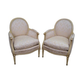 French Louis XVI Bergere Armchairs - A Pair