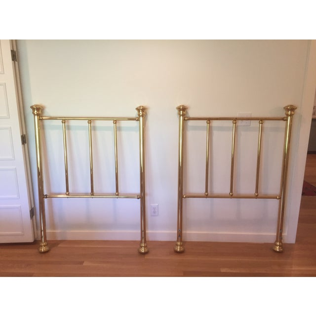 Image of Vintage Brass Twin Headboards- A Pair