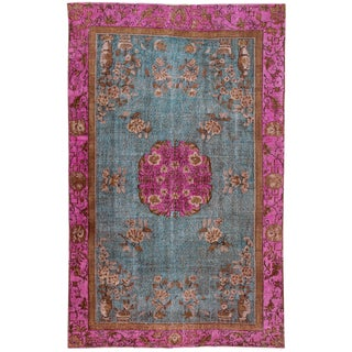 "Apadana Turkish Revival Overdyed Rug - 6'3"" X 10'1"""
