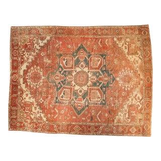 """Vintage Heriz Carpet - 9'8"""" x 12'5"""""""