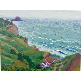 Landscape of Ocean Lookout Painting by Jennifer Keller