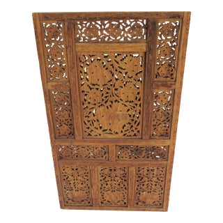 Teak Hand Carved Wall Hanging