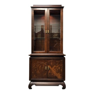 Broyhill Asian Style Chinoiserie Curio Cabinet