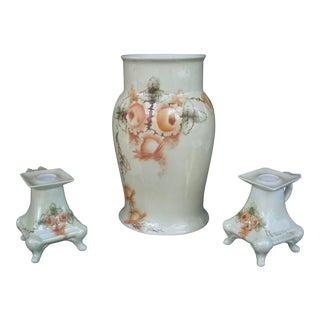 Vintage Vase & Candleholder - Set of 3