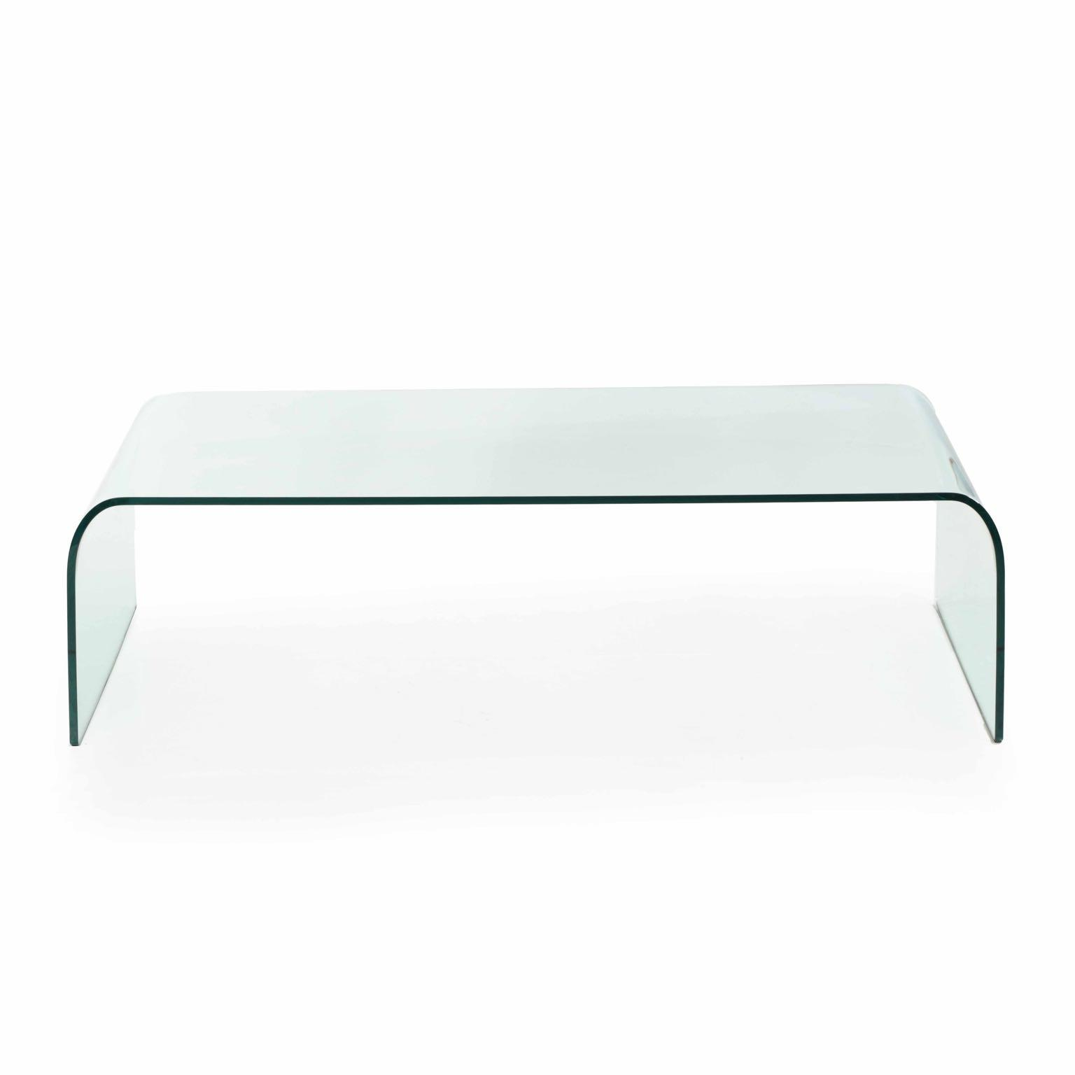 angelo cortesi for fiam italia modern waterfall glass coffee table