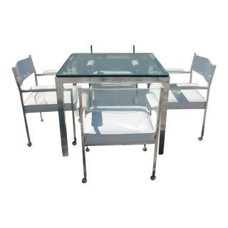 Vintage Aluminum & Lucite Dining Set